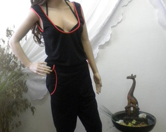 sporting elegant ladies overalls made of cotton