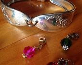 "Vintage Silver Plated ""Queen Bess"" Flatware/Silverware/Spoon Bracelet"