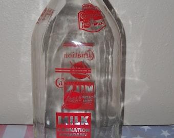 Carnation Milk Bottle