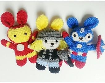 CUSTOM amigurumi stuffed toy superhero doll