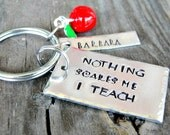 Teacher's Gifts - Personalized Teacher's Gift - Hand Stamped Teacher's Keychain - Teacher's Keychain