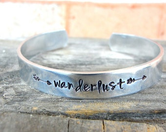 Wanderlust Bracelet - Wanderlust Jewelry - Travel Jewelry - Journey Jewelry - Arrow Jewelry