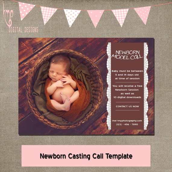 Newborn model call casting call template mini session newborn model call casting call template mini session photographer flyer mini marketing blog post template instant download elements or cs pronofoot35fo Choice Image