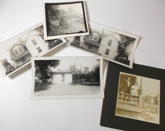 Lot of 5 Vintage Photos 1890 to 1940s Architectural and Portrait Photos Black and White Photos