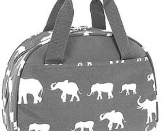 Personalized Girls Insulated Lunch bag-Grey ELEPHANT Lunch Bag