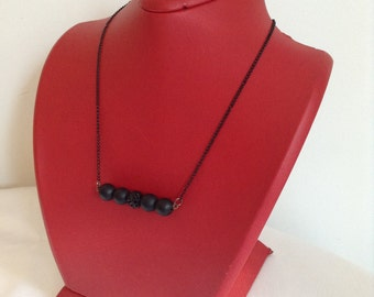 black onyx necklace ,gemstone, Christmas gift, Bridesmaid Necklace, Bridesmaid Jewelry, Wedding Jewelry,bridesmaid gift