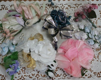 Lot of Vintage Millinery and Handmade Corsages