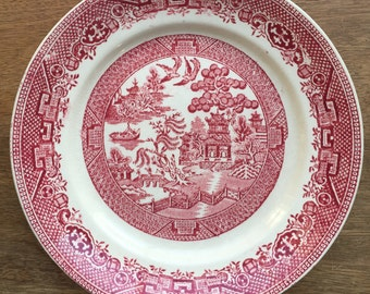 Red or pink Willow english plate