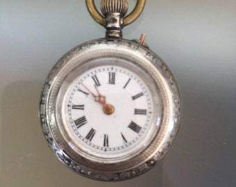 Lovely Little Silver Ladies Fob Watch c1920-30
