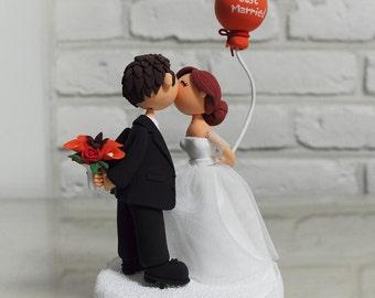 Wedding Cake Topper - Custom Cake Topper - Just Married - Romantic Theme Cake Topper - Custom Wedding Cake Topper