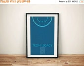 GEEKLOVE SALE Return to The Grid // Tron Legacy Alternate Movie Poster // Neon Style Light Disc, Grid, and Typography Illustration