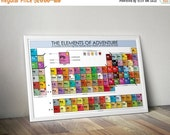GEEKLOVE SALE Elements of Aventure: Periodic Table Poster // Infographic Chart of Major and Minor Characters