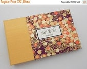 MOVING SALE Personalized Mini Photo Album, Handmade in Rich Purple and Butter Yellow, Holds 36 4x6 Photos, In Stock