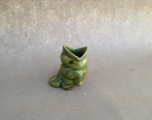 Tiny Green Singing Bird Bud Vase