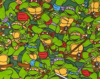 TMNT flannel pillowcase