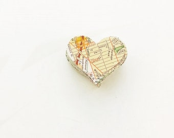 Vintage Los Angeles Map Die Cuts 167 Heart Shaped Craft Supplies Confetti Table Confetti