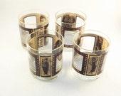 Vintage Tumblers, Roaring 20s Film Strip Clear Glass Cocktail Bar Glasses, Set of 4 Film Movie Star Glasses, I have 8