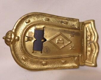 Vintage Brass Clip - Brass Holding Clip