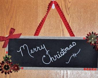 Holiday Greeting Display 6 X 18 Chalkboard