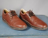 Men's Vintage BROWN Leather CASUAL Shoes with VIBRAM Sole. Size 14 (Euro 48.5)