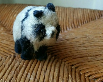 Diminutive Vintage Mohair Panda Bear