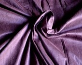Silk Dupioni in Plumb colour, Extra wide 54 inches, Half yard  DEX 318
