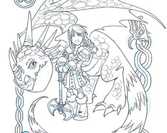Astrid And Stormfly Coloring Pages Coloring Pages