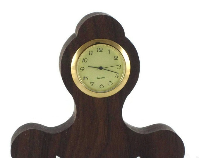 Executive Series Mini Desk Clock For Home And Office Decor Handmade From Walnut (001)