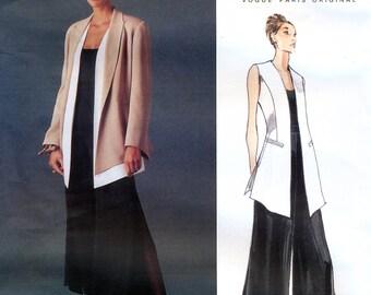 Vogue Paris Original 1540 Sewing Pattern by Montana for Misses' Jacket, Vest and Pants - Uncut - Size 8, 10, 12