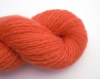 Reclaimed Cashmere Yarn, Light Fingering Weight, Peach Orange, Lot 030616