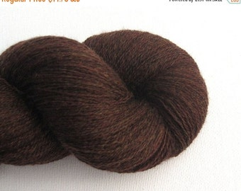 CLEARANCE Lace Weight Merino Wool Recycled Yarn, Mahogany, 980 Yards, Lot 111114