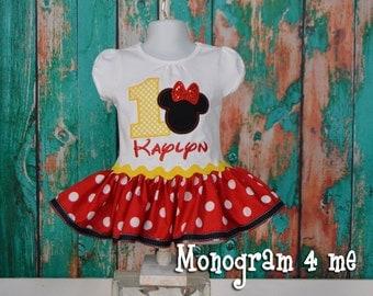 Minnie Mouse Birthday Dress, First birthday, Disney Dress