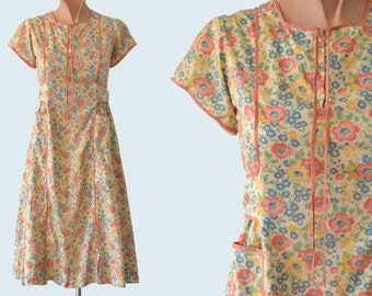 1930s Floral Cotton Depression Era Dress size XS