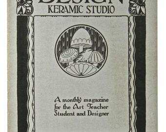 DESIGN KERAMIC STUDIO, Oversized Magazine for the Potter & Decorator, April 1925