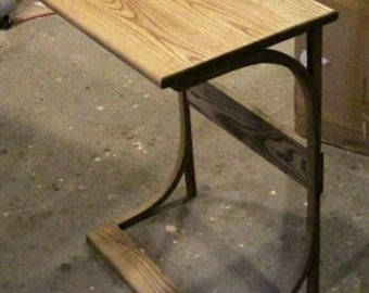 """Wooden """"C"""" Table"""