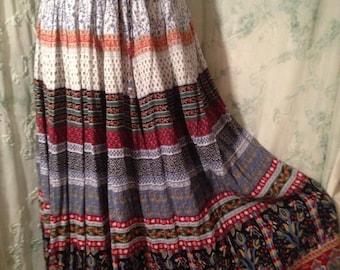 OPEN SIZE, Scandinavian Bohemian Hippie Skirt