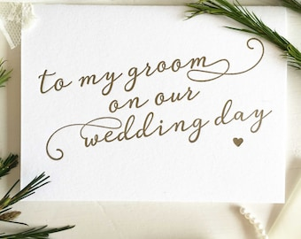 To My Groom Card - Groom Card From Bride - Bride To Groom Gift - Groom Gift From Bride - Bride To Groom Card