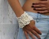 Versailles style Marie Antoinette Cuff Bracelets Jewelry / bracelet Cuff  Beadwork Free form  crochet bracelet cuff