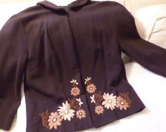 Small Nuesteters 1960s Knit Skirt Suit in Very Good Shape!