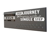 Running medal display, Display for medals, Running gifts - runners medal holder - race bib hanger - Every journey begins with a single step