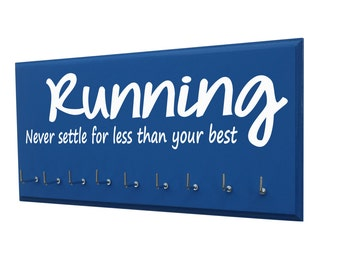Women's running medals display: for avid runner, Running, Never settle for less than your best, running gifts