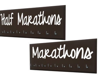 Running,  medal holders pair for half marathon and full marathon races, Perfect gift for Avid runner, marathoner and half marathoner