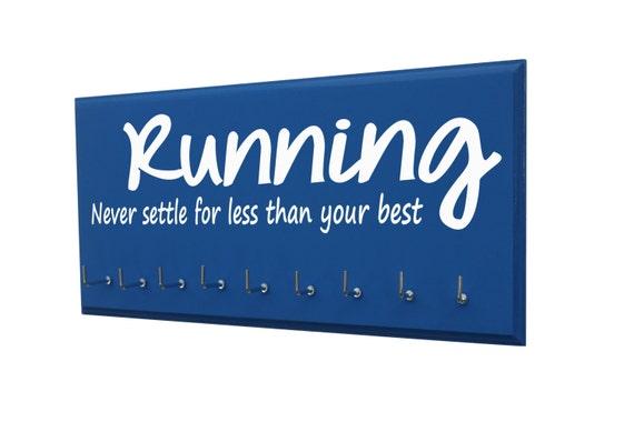 Women's running medals display: for avid runner, Running, Never settle for less than your best, running gifts
