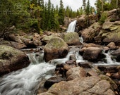 Waterfall Landscape Photography Nature Photography Colorado Photography woodland stream home decor Fine Art Photography Print