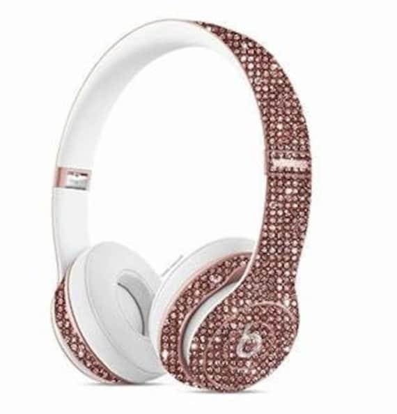 Earphones rose gold beats - headphones beats gold rose