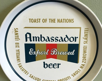 Vintage Ambassador Export Brewed Beer Tray