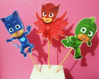 PJ Masks - Set of 3 - Centerpiece Picks