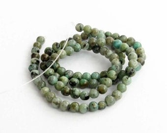 One Full Strand Green Stone Beads For DIY Jewelry Finding--4mm--About 100Pieces  ja652