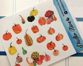 Pumpkin Planner Stickers/Planner Stickers