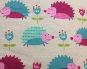 Girly Hedgehogs - FLANNEL - BTY